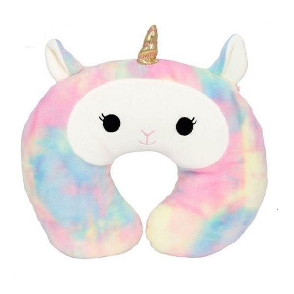stuffed U shape plush unicorn animal cushion